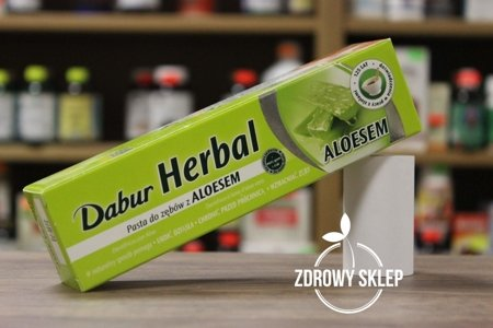 Dabur Herbal pasta do zębów z aloesem bez fluoru i parabenów 100ml