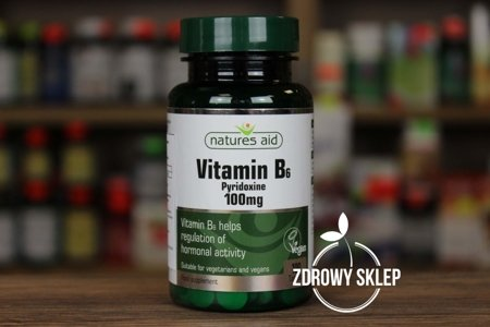 Natures Aid Witamina B6 100mg 100 tabletek